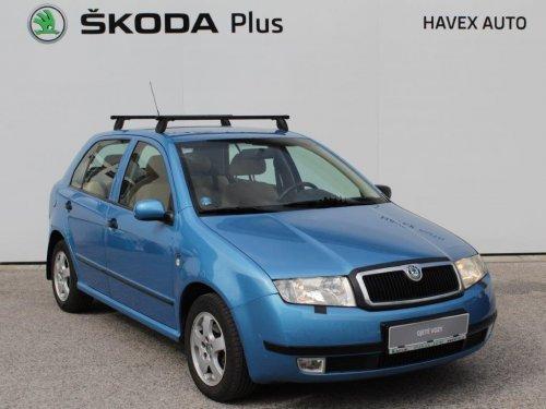 Škoda Fabia 1.4 MPI 16V, 74kW (101PS) Elegance Hatchback, modrá metalíza, r. v. 11/2000, najeto 211tis. km, benzín, manuální 5 rychlostní převodovka, splňuje EURO 3, manuální klimatizace, servisní knížka, STK 11/2020, autorádio s CD, AUX, 2x airbag, servo, brzdový asistent ABS, otáčkoměr, palubní počítač, automatické svícení, přední mlhové světlomety, všechna okna v elektrice, vyhřívané a nastavitelné přední sedačky, elektricky ovládaná a vyhřívaná zpětná vnější zrcátka.
